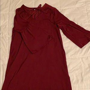 Old Navy Satin Wine Red Dress